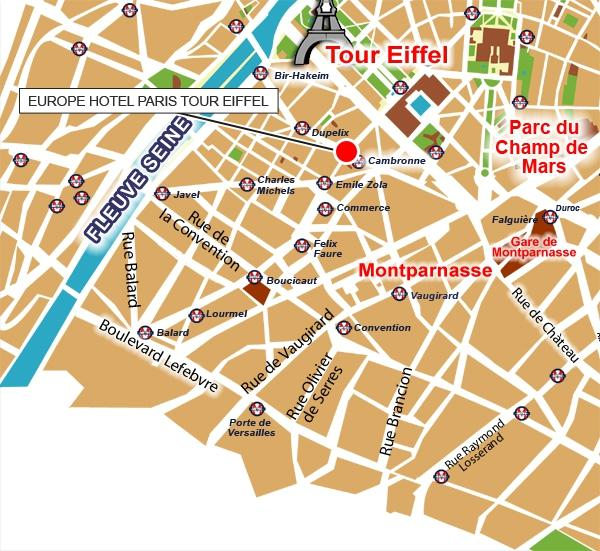 Emplacement H 244 Tel Europe Tour Eiffel Paris